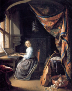 """A Lady Playing the Clavichord"" - Gerrit Dou, 1665"