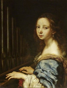 """Saint Cecilia Playing the Organ"" - Justus Sustermans?, date ?"
