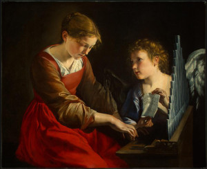 """Saint Cecilia and an Angel"" - Orazio Gentileschi, date?"