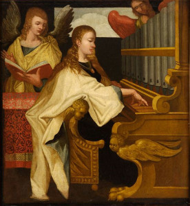 """Saint Cecilia at the Organ"" - Anon, 16th Century"